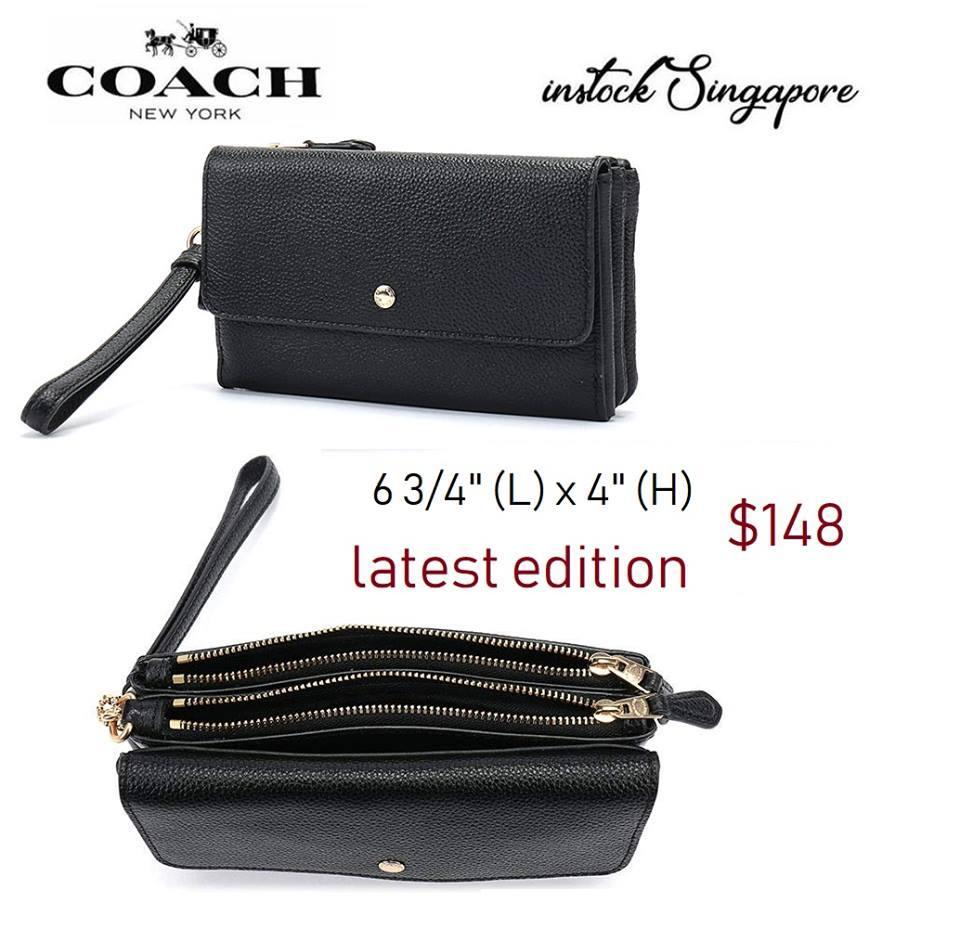 Coach Triple Small Wallet wristlet wallet boutique item 29609