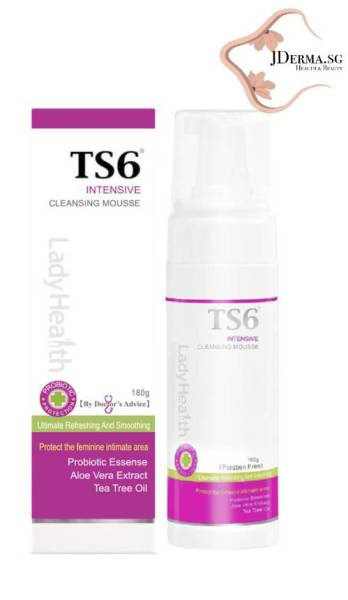 Buy TS6 LADYHEALTH Probiotic Cleansing Mousse 180ml /Prevent Vaginal Discharge Or Infection - Ease Itch & Clear Discharge Singapore