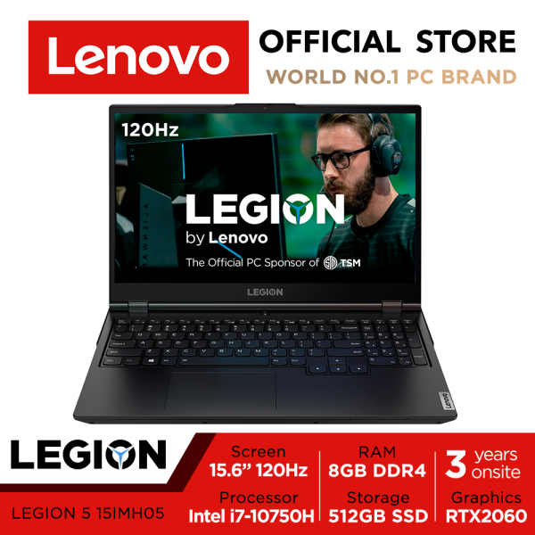 【Same Day Delivery】Lenovo LEGION 5i | 81Y600FESB | RTX2060 | 15.6inch FHD IPS 120Hz | i7-10750H | 16GB | | 512GB SSD | 3Y warranty