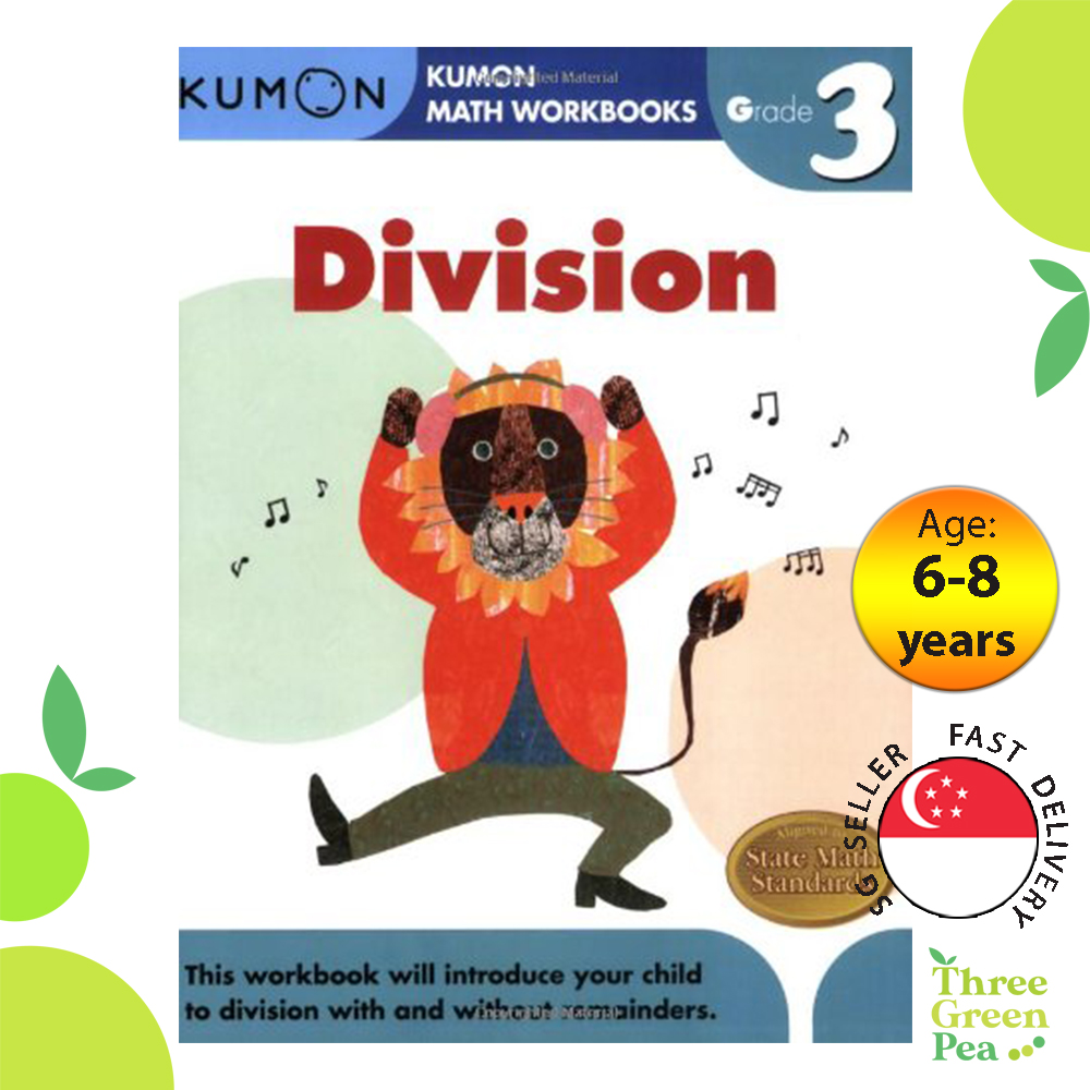 Kumon Math Workbooks Grade 3 DIVISION