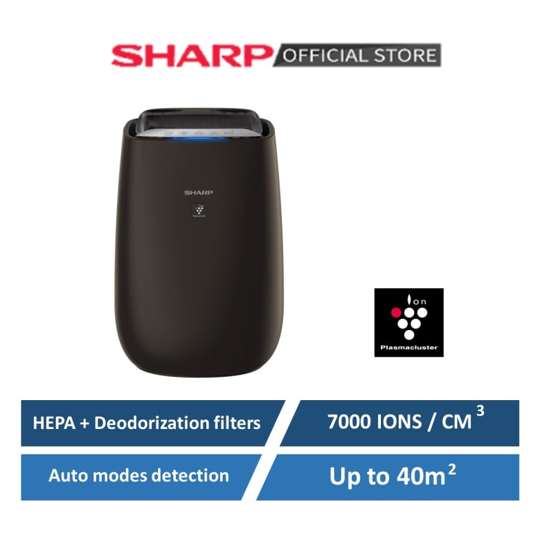 Sharp Plasmacluster Air Purifier coverage up to 40msq FP-J50E-H   Auto sensors modes   Wifi COnnectivity   Air quality color indicator   7000 ions /cm3 Singapore