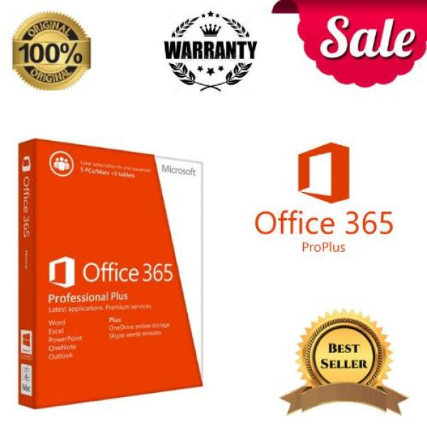 Genuine Microsoft Office 365 Pro Plus For 32/64 BIT & MAC Lifetime Original +Instruction