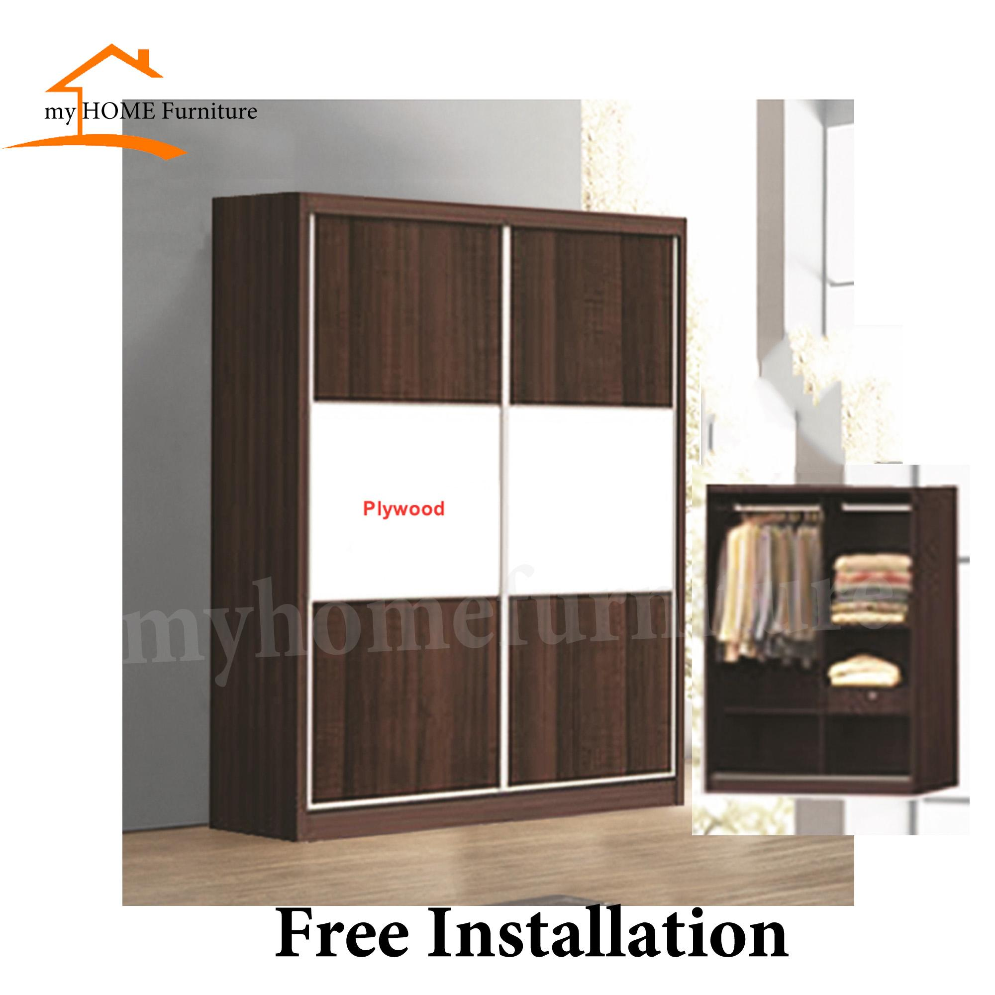 4ft Sliding Wardrobe With Drawer (Free Installation) (Free Delivery)
