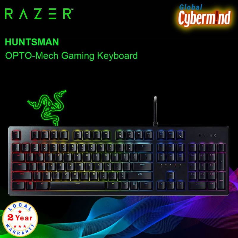 RAZER  Huntsman  – OPTO-Mech Gaming Keyboard RZ03-02520100-R3M1 ( Brought to you by Cybermind ) Singapore