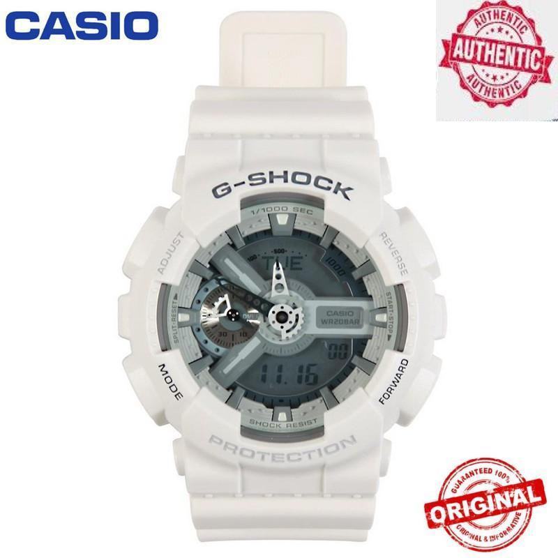 (Ready Stock) Original G Shock GA-110 Men Sport Watch Duo W/Time 200M Water Resistant Shockproof and Waterproof World Time LED Auto Light Wrist Sports Watches with Warranty GA110/GA-110 Malaysia