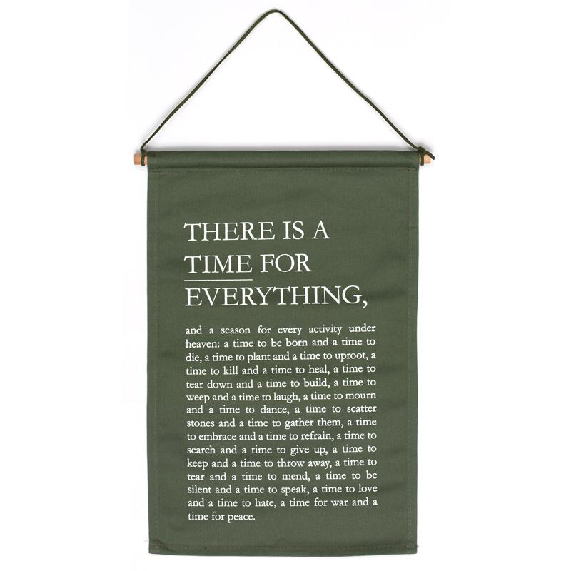 THERE IS A TIME WALL HANG
