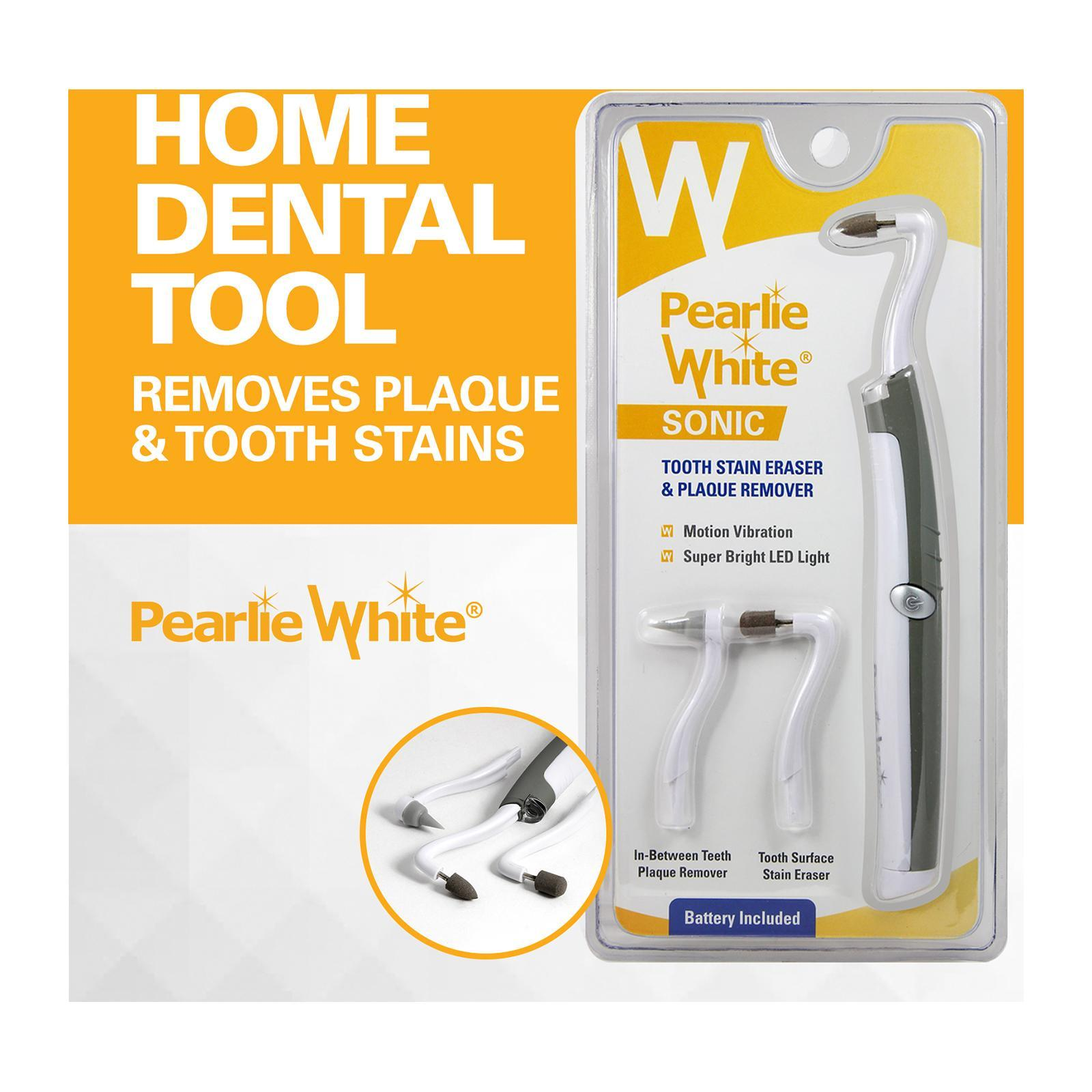 Pearlie White Sonic Tooth Stain Eraser And Plaque Remover