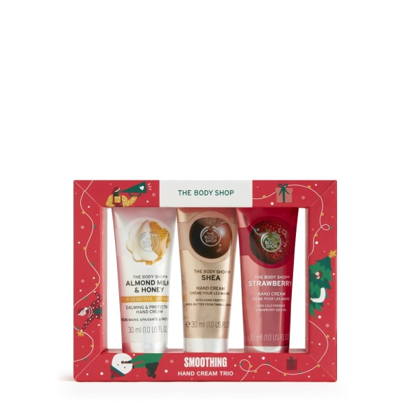 Buy The Body Shop Smoothing Hand Cream Trio (Christmas Gift Set) Singapore