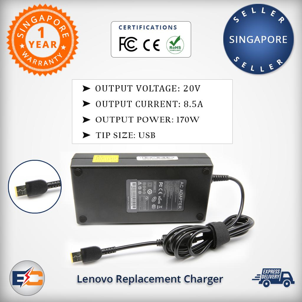 Lenovo 20v 8.5a 170w (USB) Replacement AC Adapter Charger Power Supply for Lenovo T440P W541 W540 P50 P51