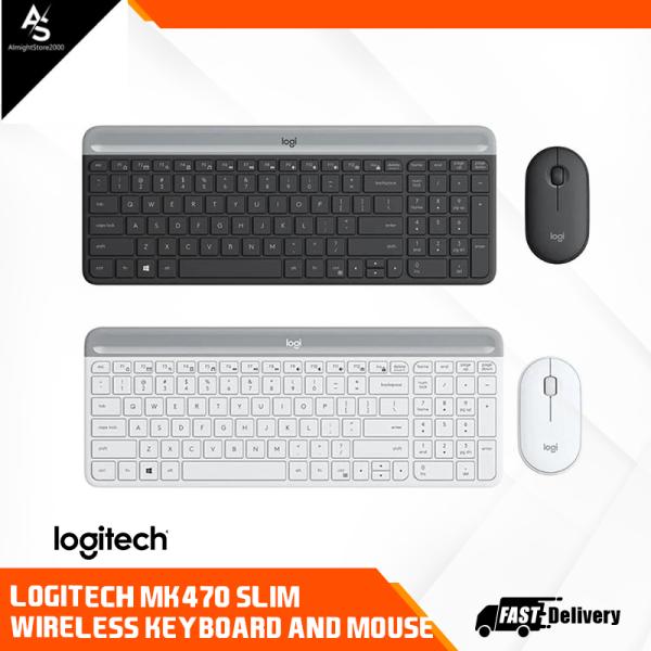 Logitech MK470 Combo Wireless Slim Keyboard Mouse Graphite Off White Singapore