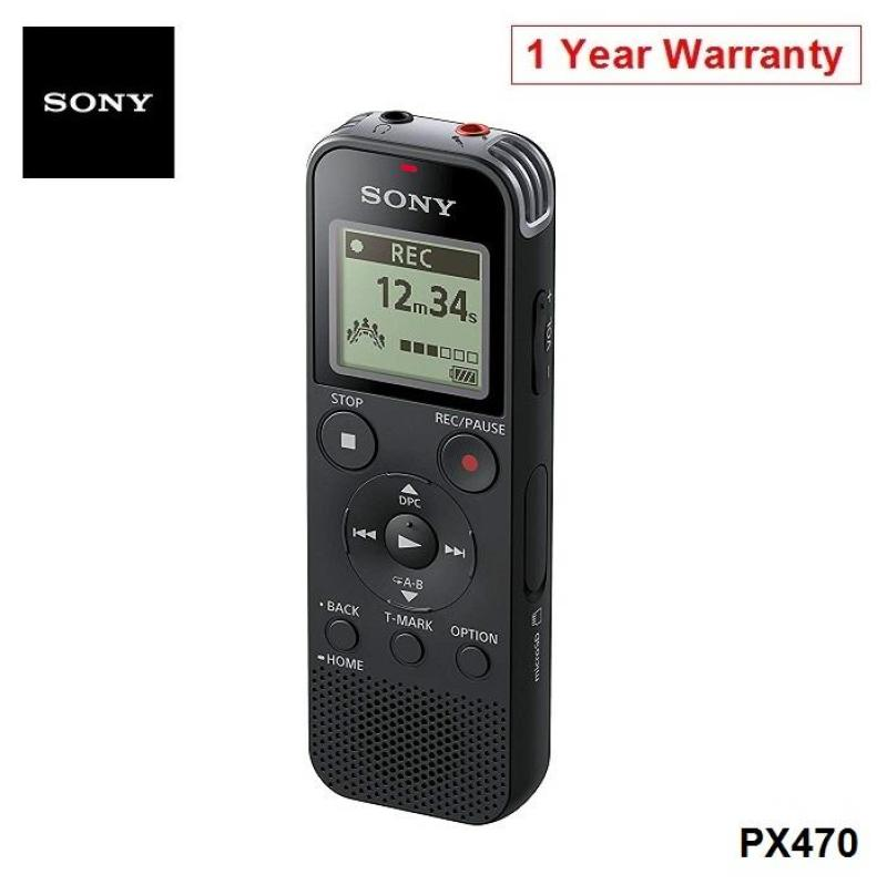 Sony ICD-PX470 Digital Voice Recorder USB 4GB Memory Storage Singapore