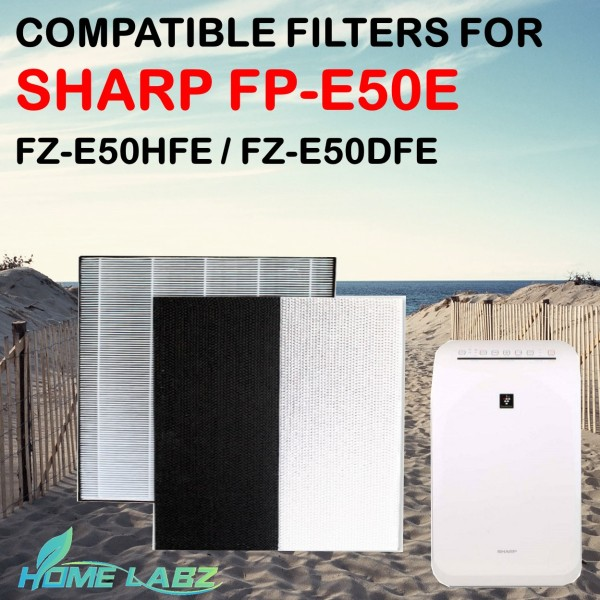 Sharp FP-E50E Compatible HEPA and Deodourizing Filter (FZ-E50HFE / FZ-E50DFE) Singapore