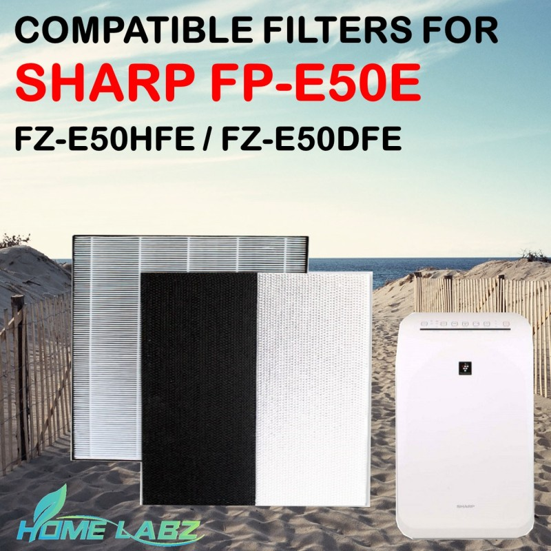 Sharp FP-E50E Compatible HEPA and Deodourizing Filter (FZ-E50HFE / FZ-E50DFE) Singapore