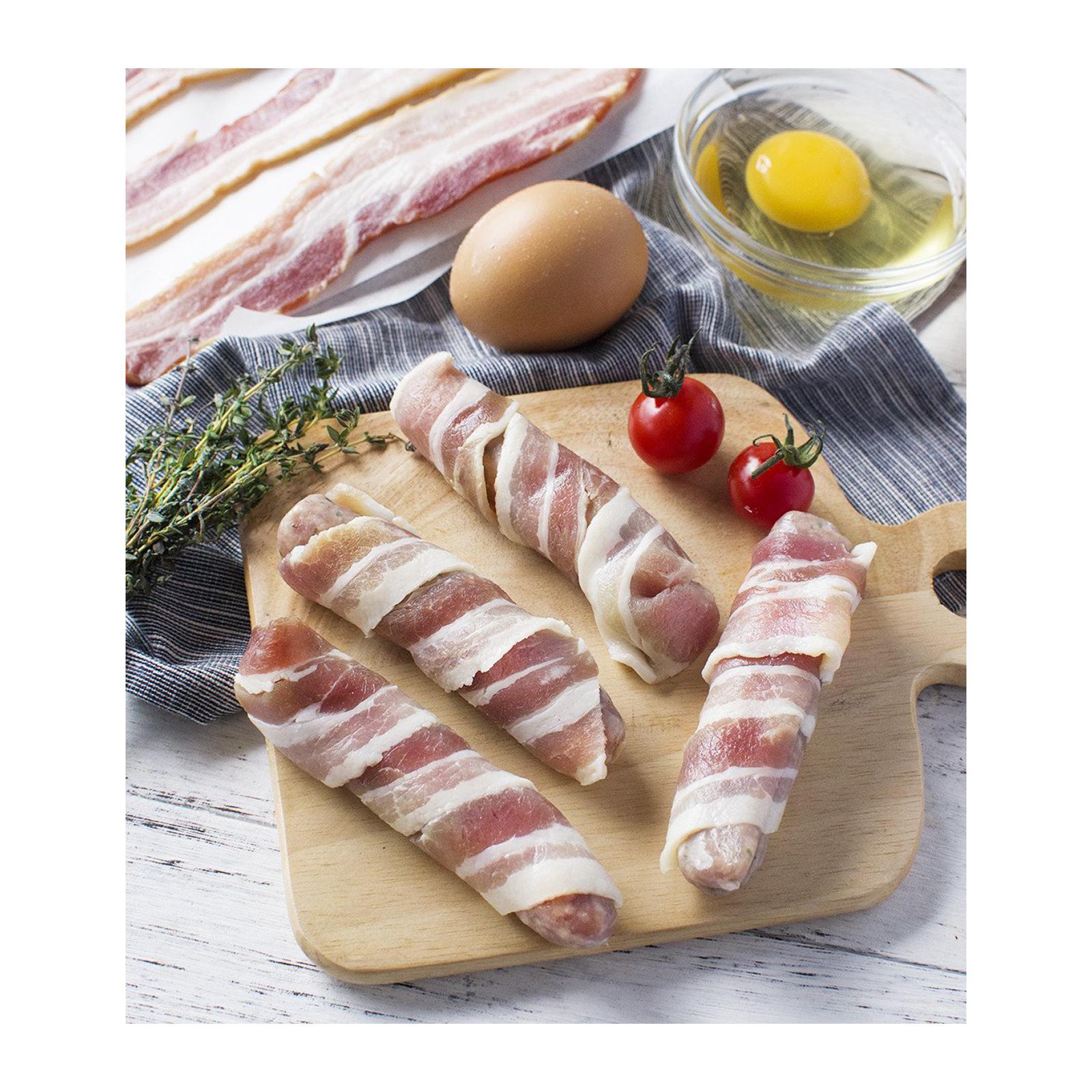 Sasha's Fine Foods Pork Chipolatas Wrapped In Smoked Steaky Bacon - Frozen