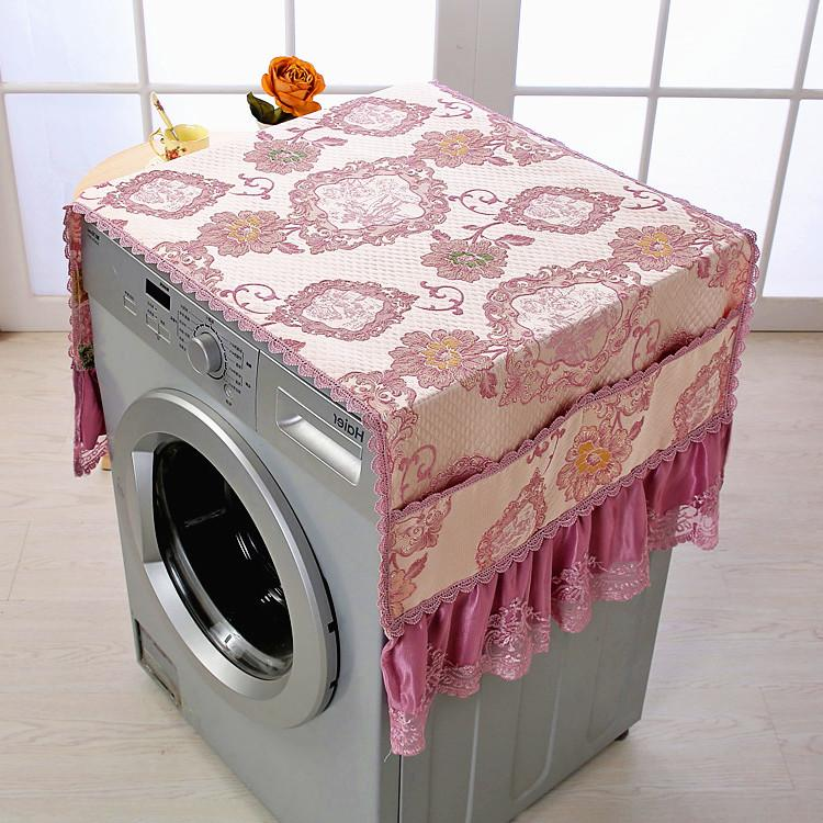 Washing Machine Cover Haier Panasonic Fully Automatic Drum-Type Dust Cover Universal Fabric Washing Machine Lace gai jin