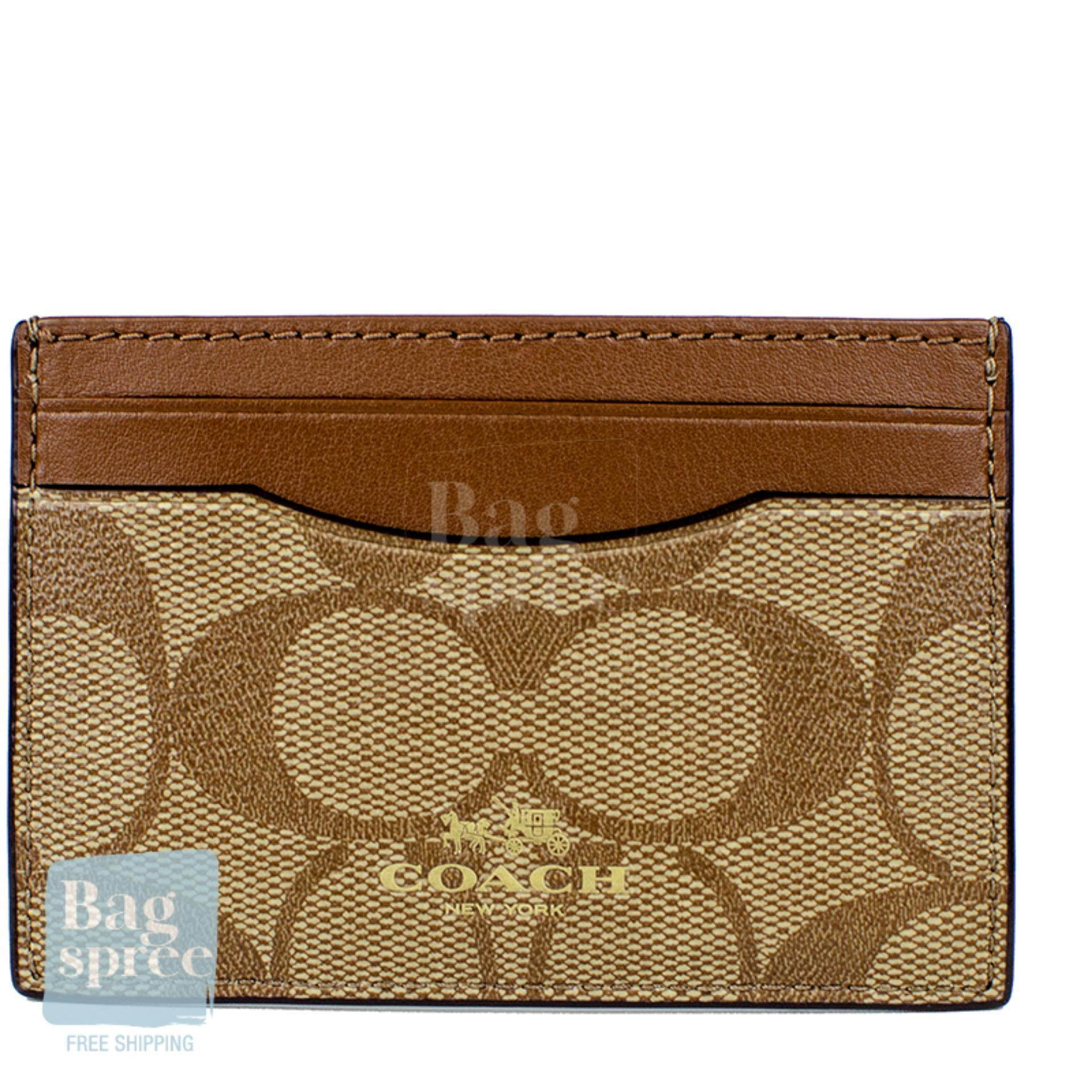 77168fb7 *Authentic & Brand New* Coach Card Case F63279 [Gift Receipt Provided]