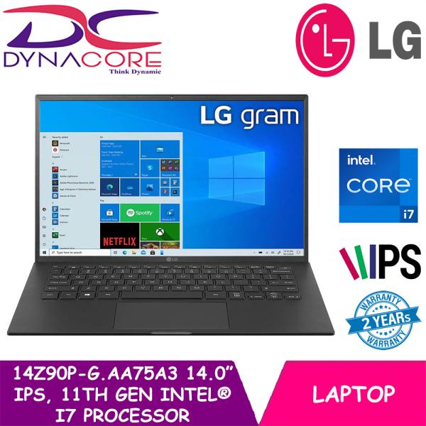 [READY STOCK] DYNACORE - LG GRAM 14Z90P-G.AA75A3 | 14 Inch | i7-1165G7 | 16GB RAM + 512 GB SSD | INTEL IRIS XE GRAPHICS | WIN 10