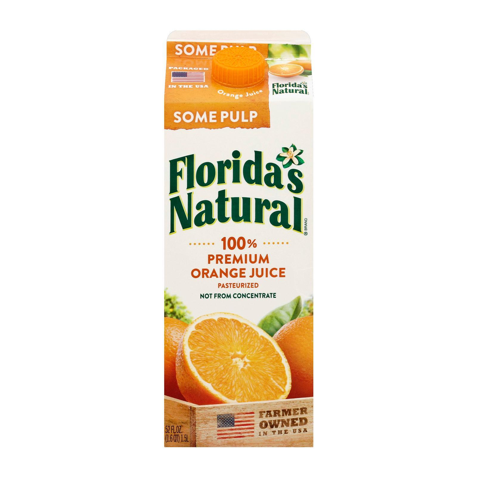 Florida's Natural NFC Home Squeezed (Some Pulp) Orange Juice