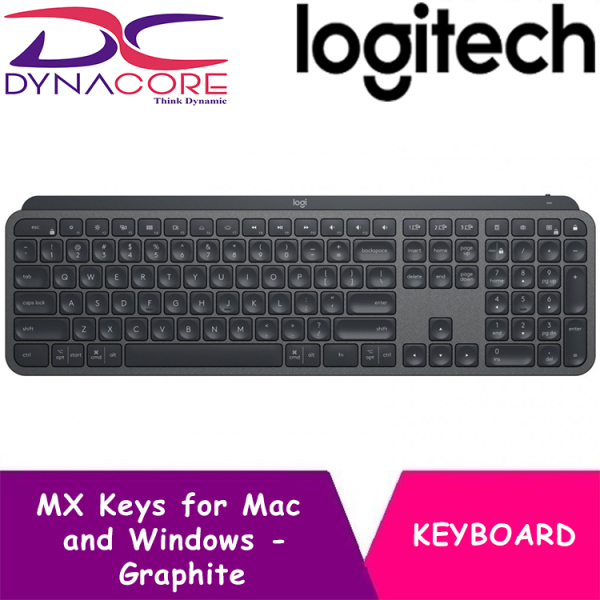 DYNACORE - Logitech MX Keys for Mac and Windows - Advanced Wireless Illuminated Keyboard - Graphite Singapore