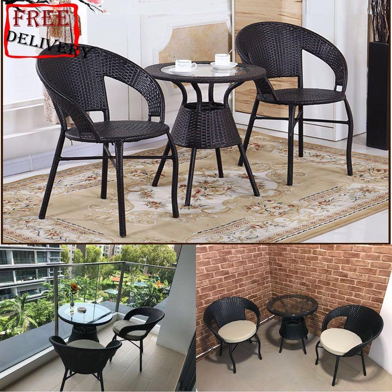 Outdoor Coffee Table Set (1+2) Free Delivery and  Installation