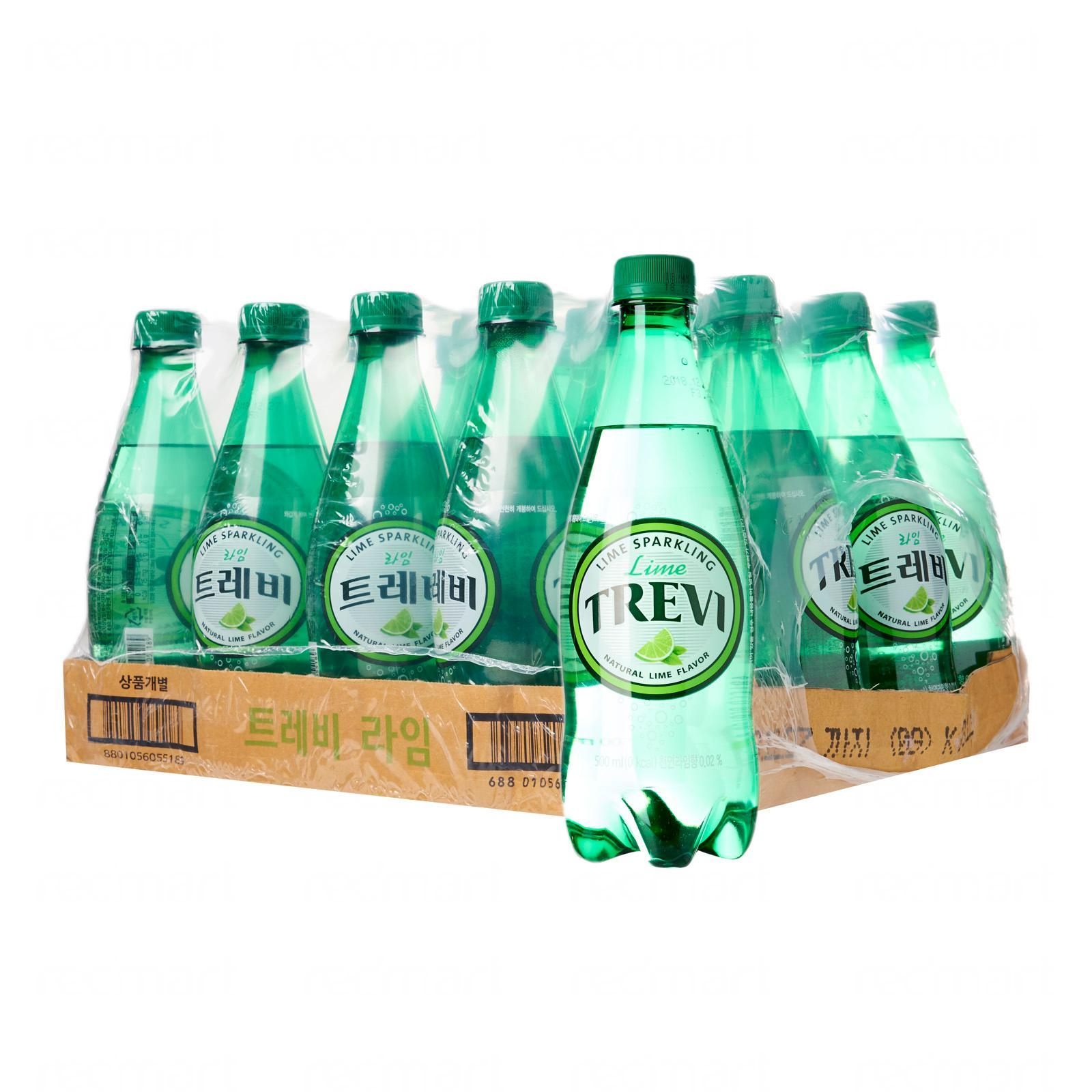 Lotte Chilsung Trevi Sparkling Water Lime - Case