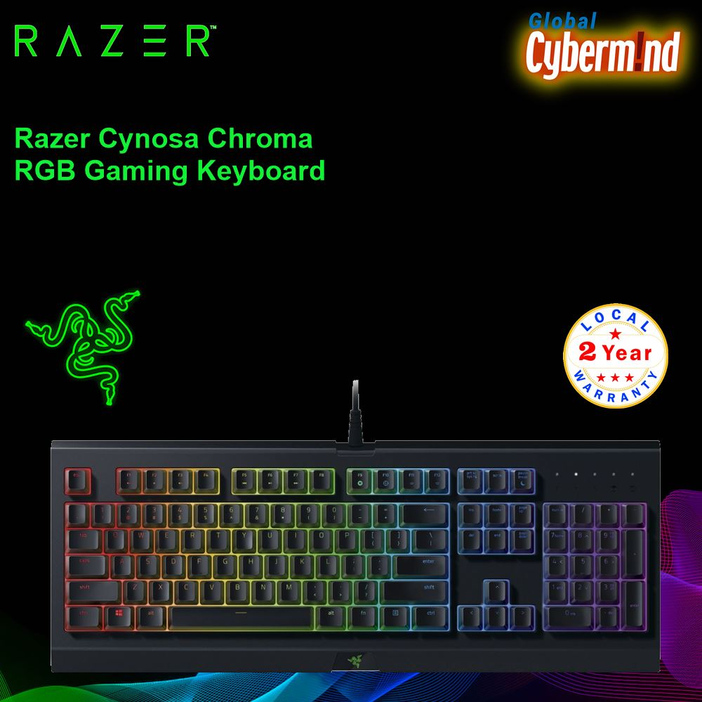 Razer Cynosa Chroma RGB Gaming Keyboard ( Brought to you by Cybermind ) Singapore