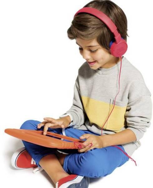 JBL JR300 Kids On-Ear Headphones, Red Singapore