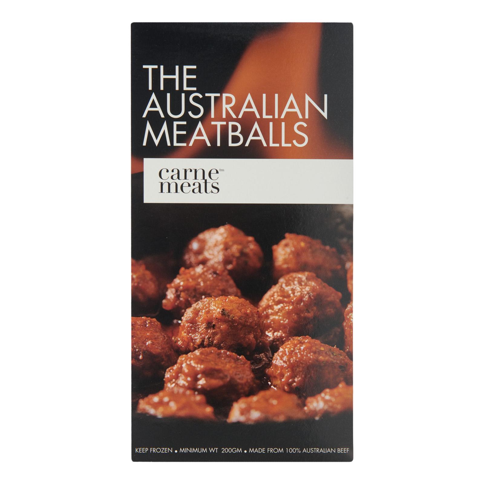 Carne Meats Australian Beef Meatballs - Frozen
