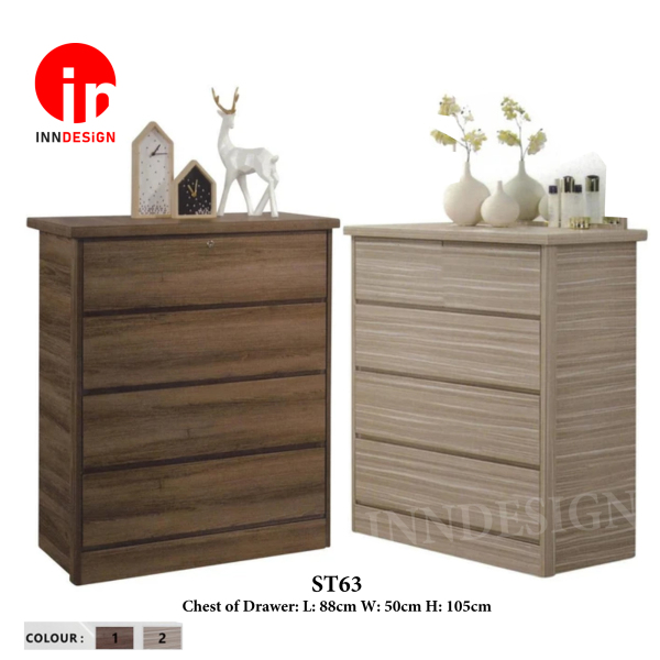 Chest of 4 Drawers With Lock (Free Delivery and Installation)