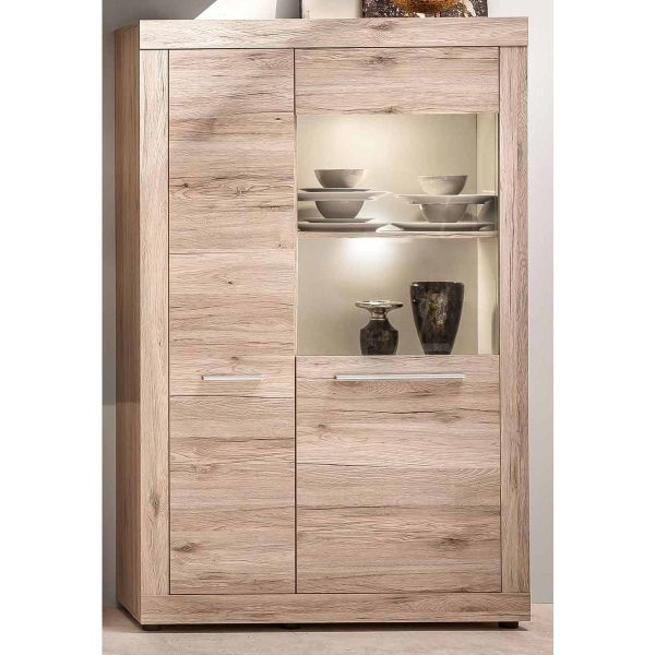 Display cabinet, glass cabinet, wine and drink cabinet for dining room, living room, Trendteam Germany