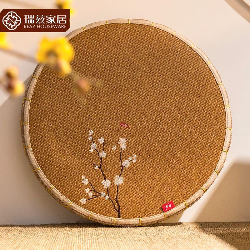 REAZ xi dao Futon throw pillow Circle Thick Tatami Play Meditation Pad Yoga Mat Terrace/Patio Window throw pillow Eaves.