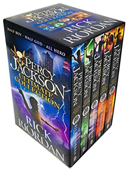 UK ver. Percy Jackson & the Olympians 5 Paperback Books Set by Rick Riordan