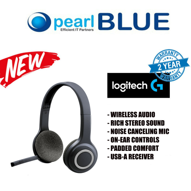 Logitech H600 Wireless Headset For Computers Via Usb Receiver Singapore