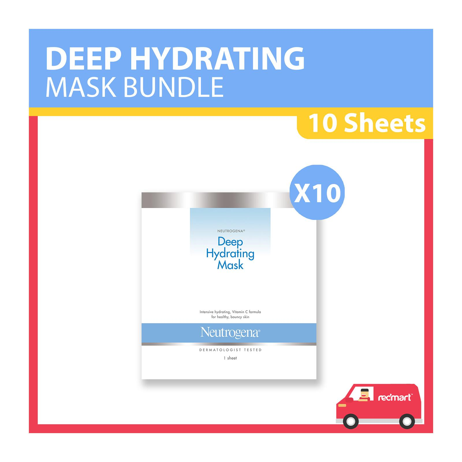 Neutrogena Deep Hydrating Mask - Bundle of 10