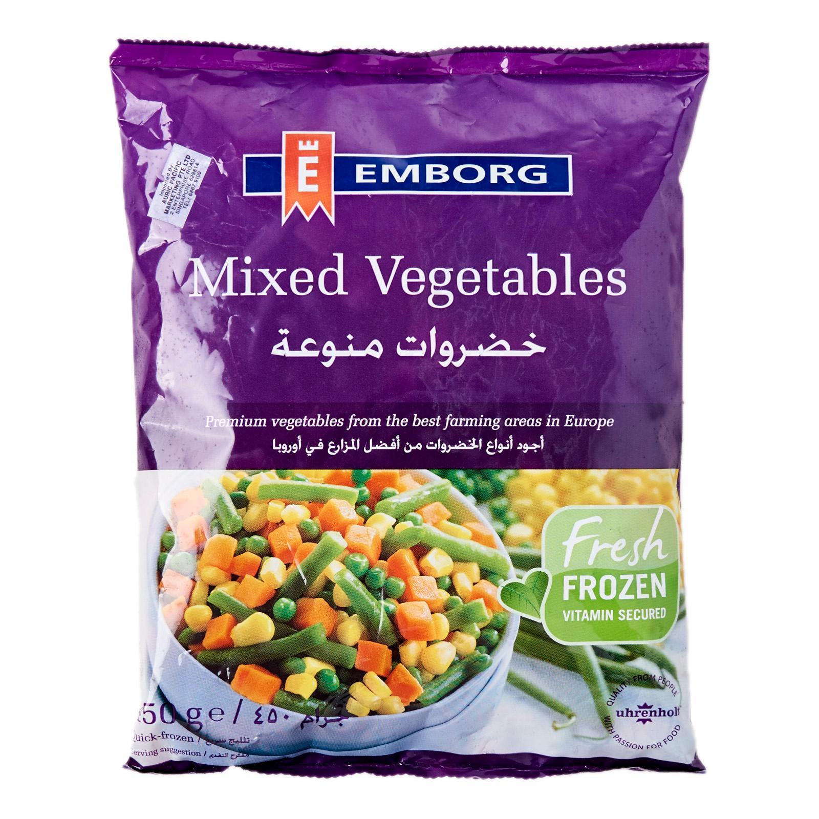 Emborg Mixed Vegetables - Frozen By Redmart.