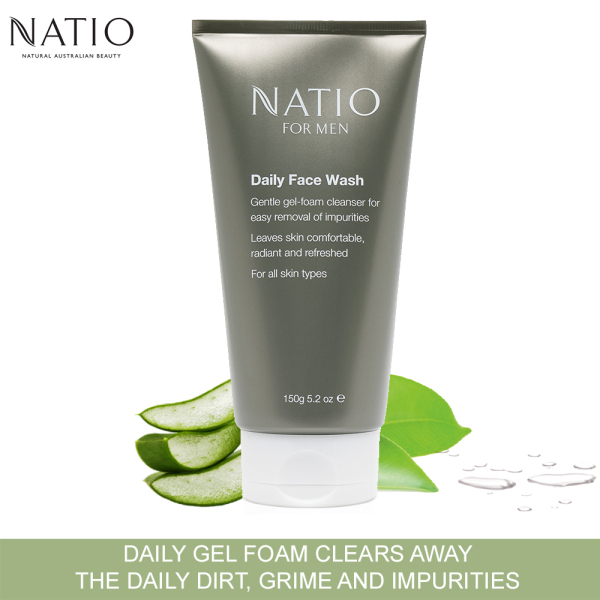 Buy Natio for Men Daily Face Wash 150g Singapore