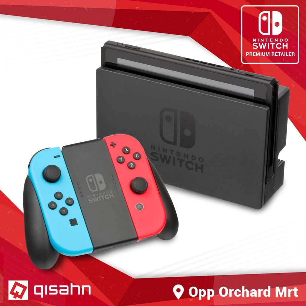 (local Asia Set) Nintendo Switch Console System 1 Year Local Warranty Or Extended 5 Year Warranty Grey Or Neon Colour By Qisahn.com.