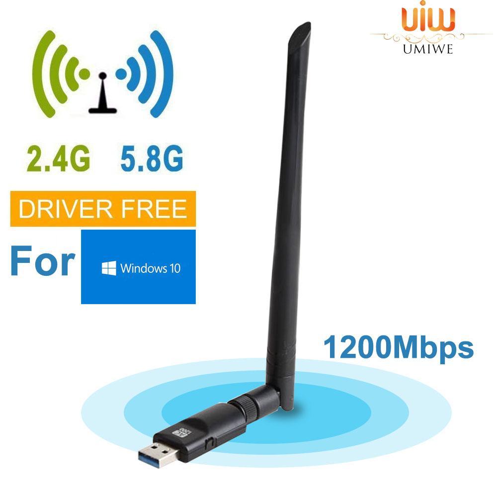 💯 Umiwe Wifi Dongle 1200mbps Dual Band 2 4g 300m/5g 867m