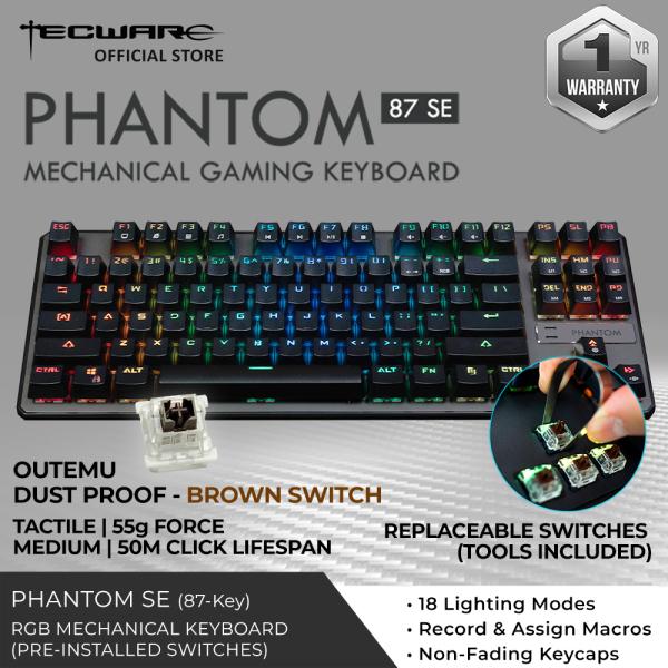 Tecware Phantom 87 SE RGB Mechanical Keyboard [3 Switch Options]