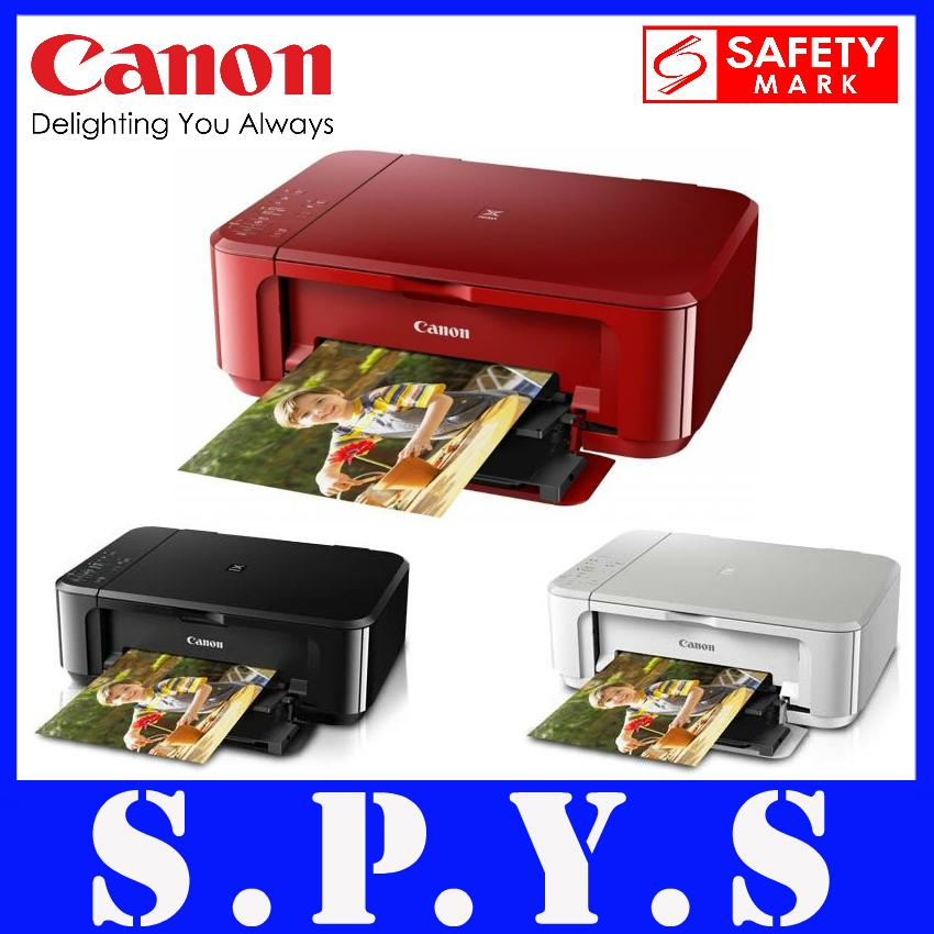 Canon MG3670 Multi Function Printer  Auto Duplex Printing  Copy / Scan /  Color Print / Mono Print  Available in 3 colors  Safety Mark Approved  1  Year