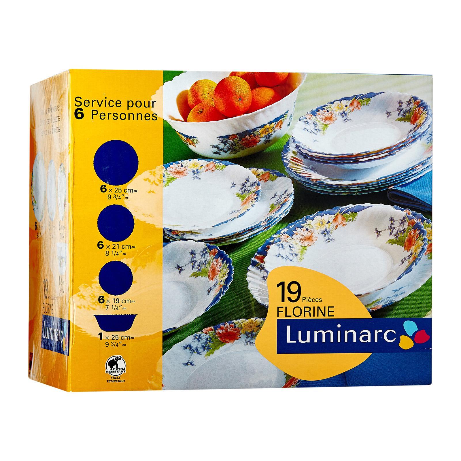 Luminarc Florine 19 Pcs Dinner Set