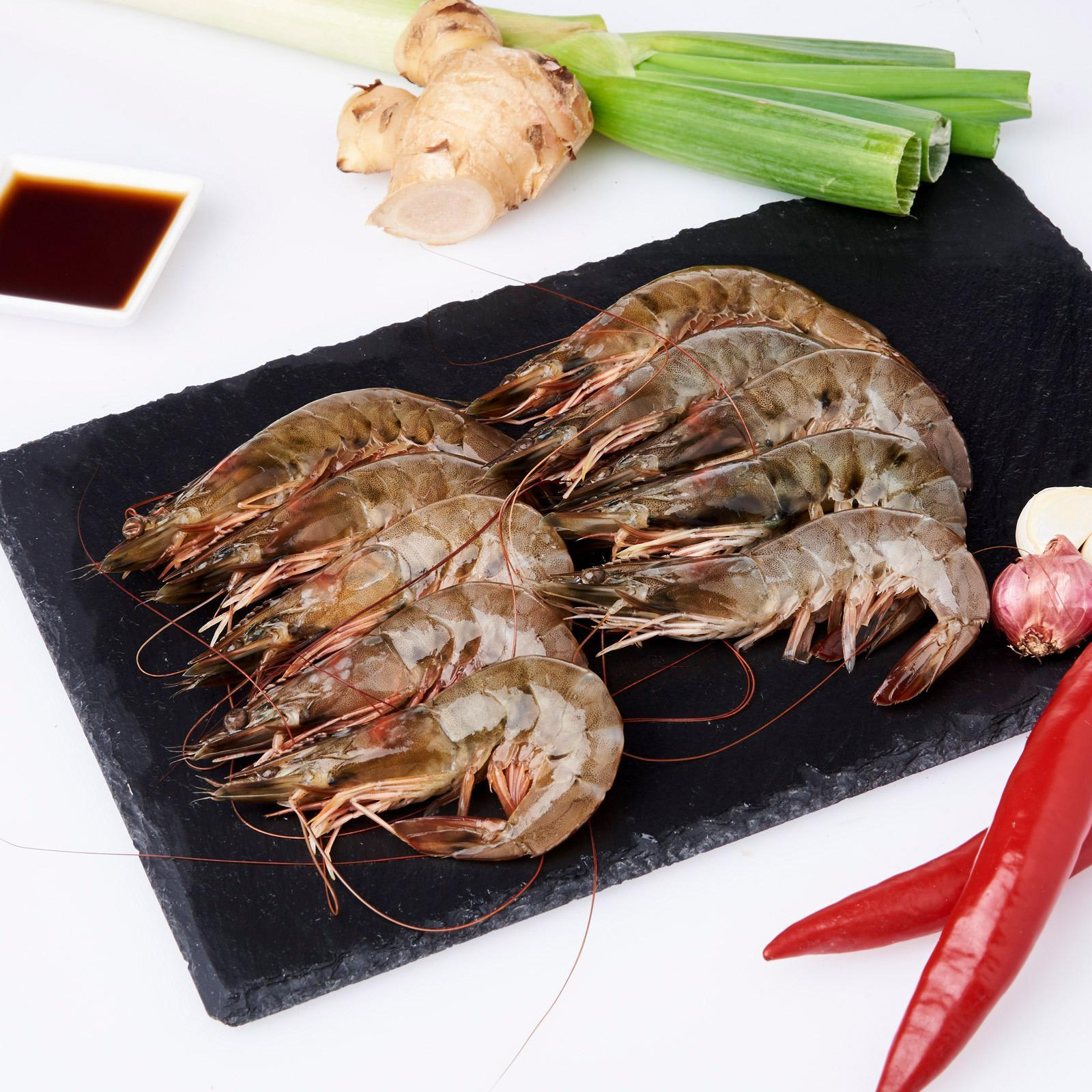 Serve By Hai Sia Seafood - Fresh Grey Vannamei Prawns By Redmart.