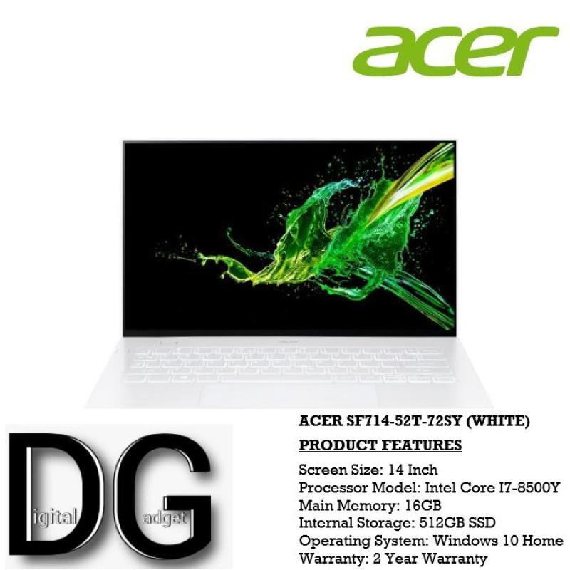 ACER SF714-52T-72SY (WHITE) 14 IN INTEL CORE I7-8500Y 16GB 512GB SSD WIN 10