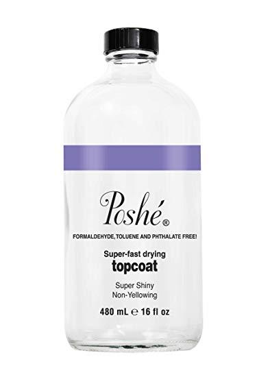 Poshe Super Fast Drying Top Coat - 16oz By Johnnybeautyandnails.