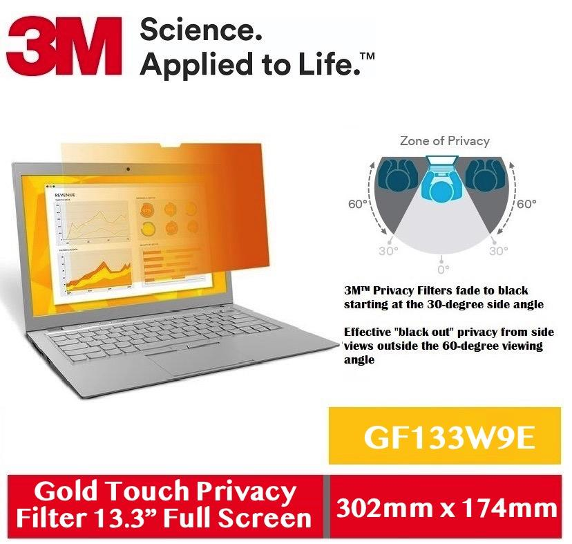 3M Gold Touch Privacy Filter for 13.3 Full Screen GF133W9E