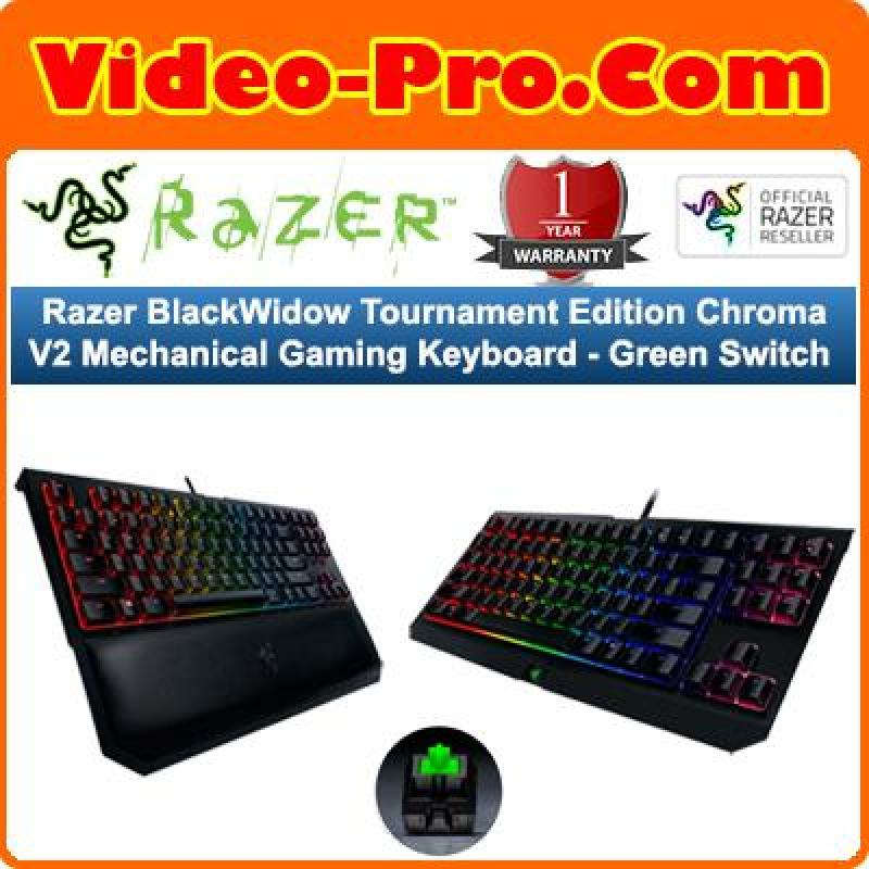 Razer BlackWidow Tournament Edition Chroma V2 Mechanical Gaming Keyboard -Green Switch RZ03-02190100-R3M1 Singapore