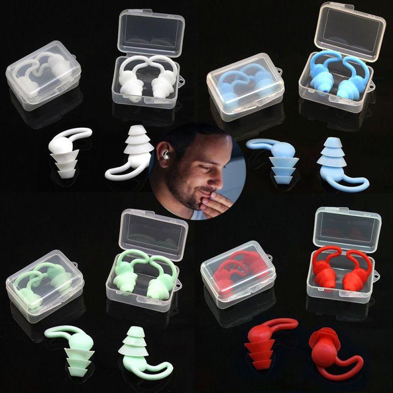 N33GVC3Q 1 Pair Soft Silicone Hear Safety Sound Insulation Travel Study Sleep Earplug Ear Plugs Earplugs Noise Reduction