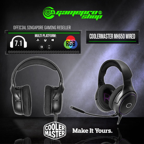 CoolerMaster MH650 7.1 Gaming Headset - MH-650 (2Y)