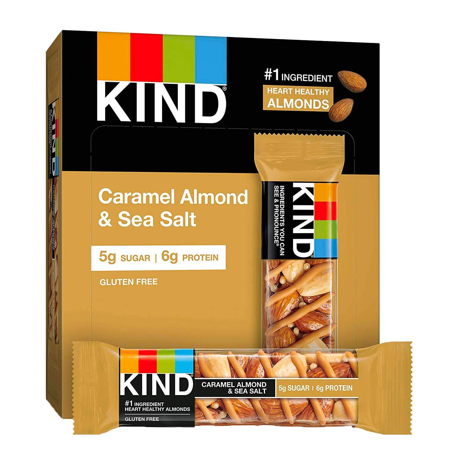 KIND Fruit And Nut Caramel Almond And Sea Salt Bar - By Wholesome Harvest