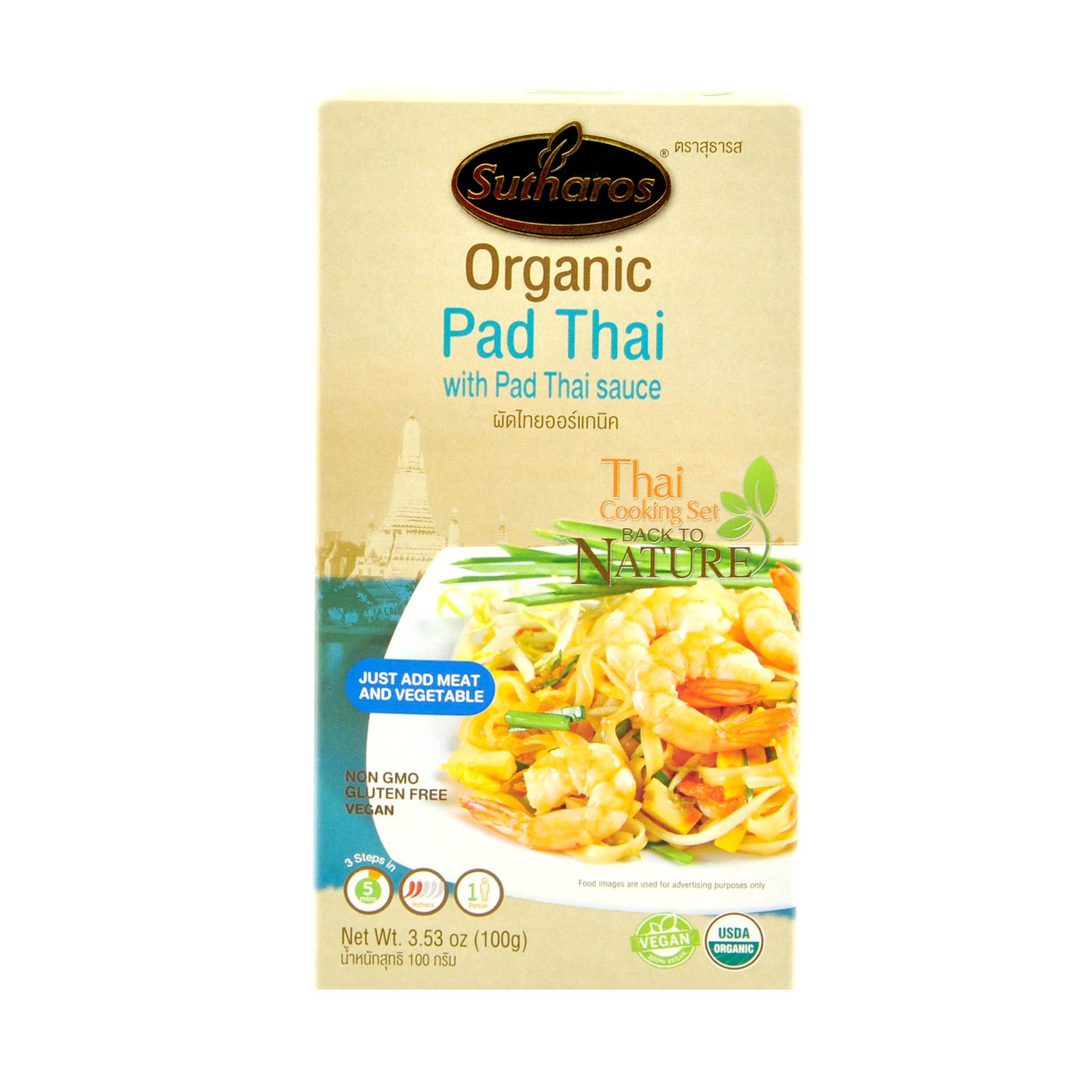 Sutharos Organic Pad Thai With Pad Thai Sauce (3 Boxes) By Lifewinners Organic & Fine Foods.